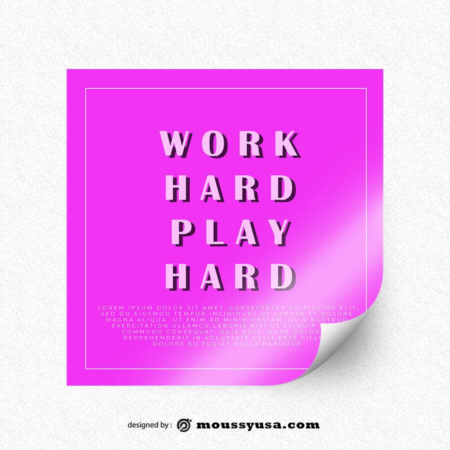 bumper sticker template template free psd