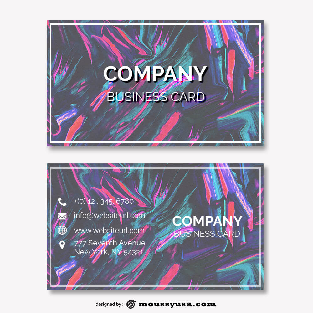 business card design templates customizable psd design template