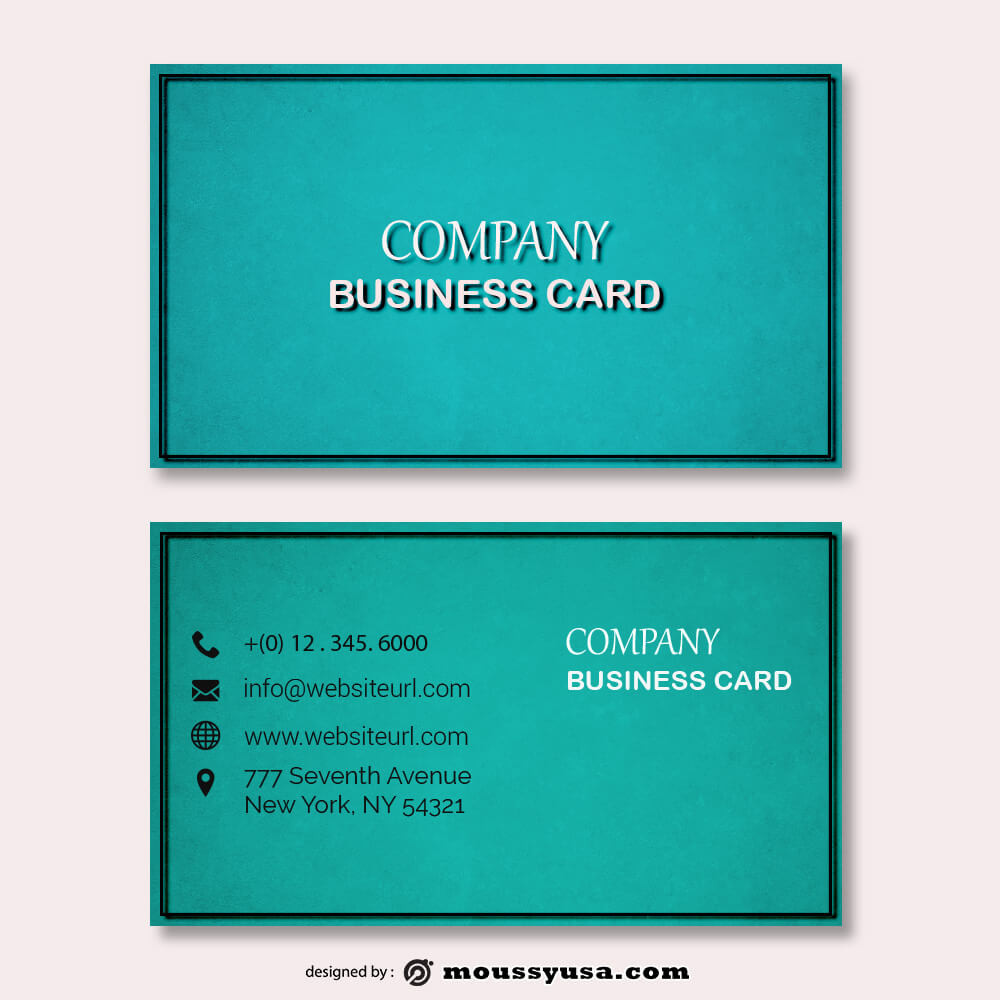business card design templates free psd template