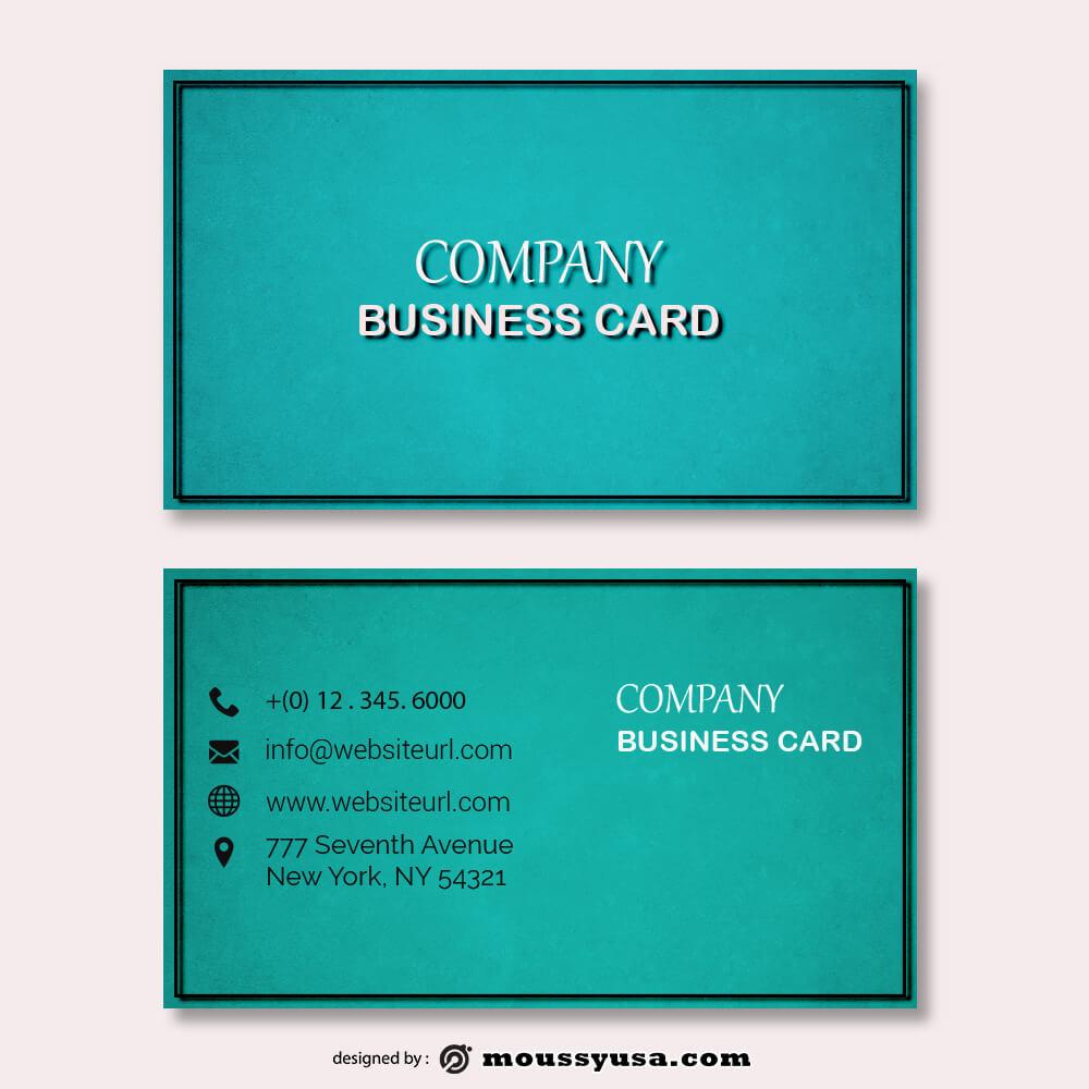 business card design templates free psd template