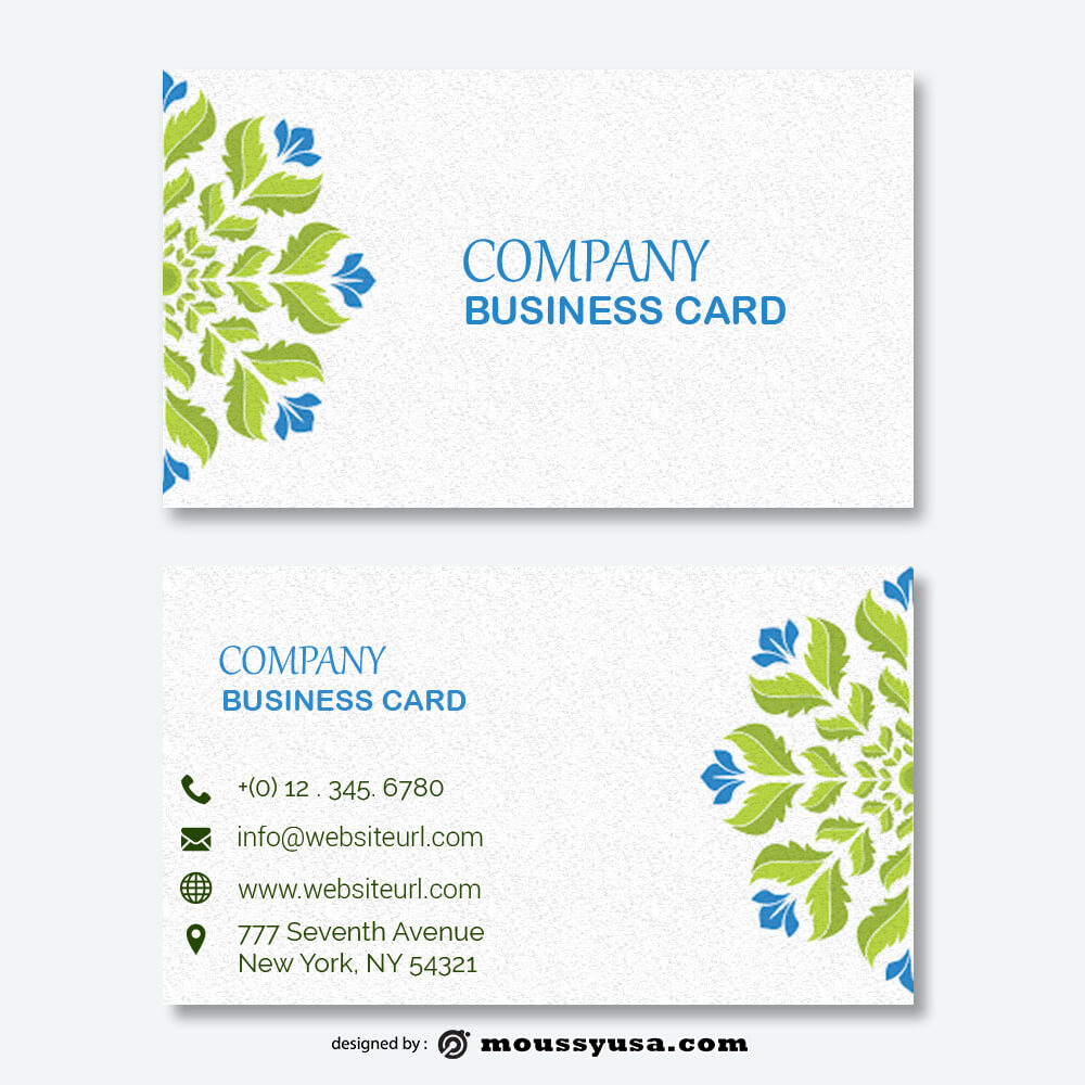 business card design templates in psd design