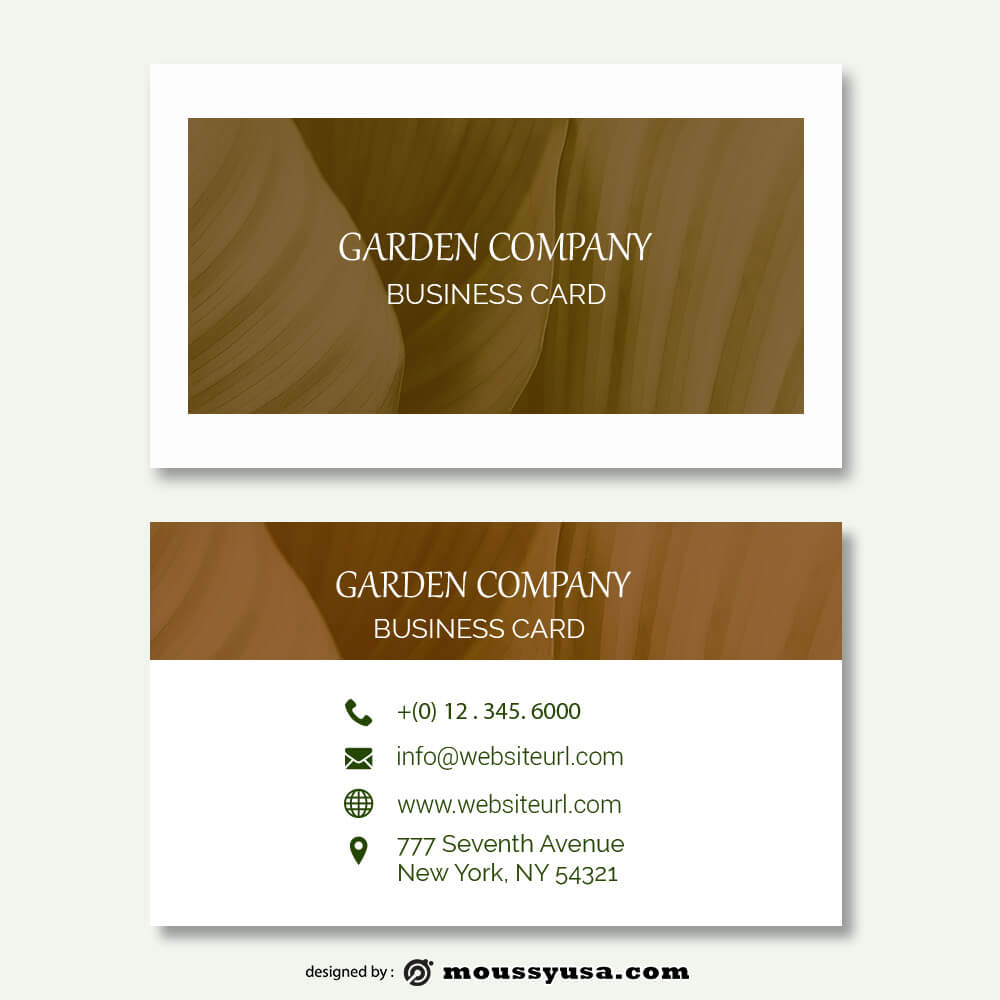 business card design templates psd template free