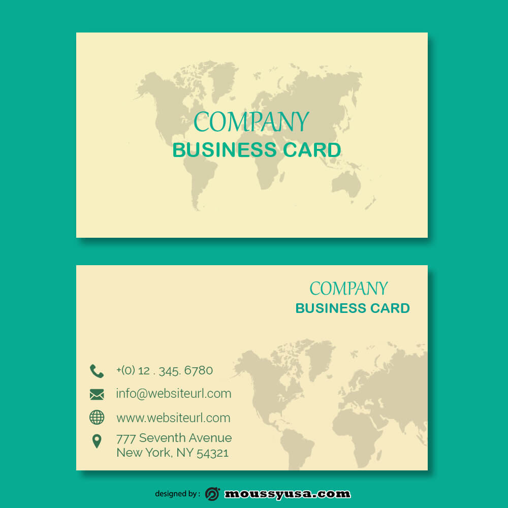 business card design templates template for photoshop