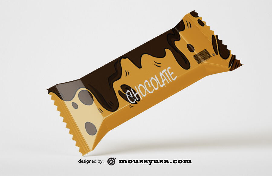candy bar wrapper example psd design