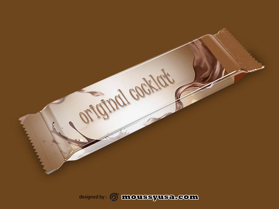 candy bar wrapper free psd template