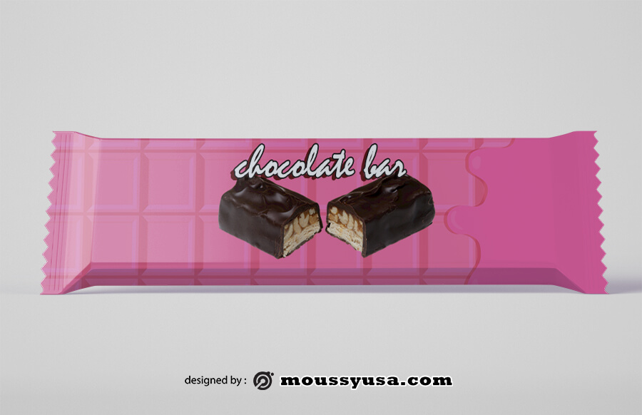 candy bar wrapper in psd design