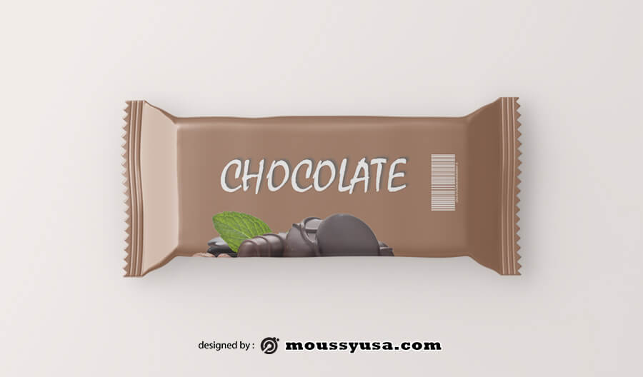 candy bar wrapper psd template free
