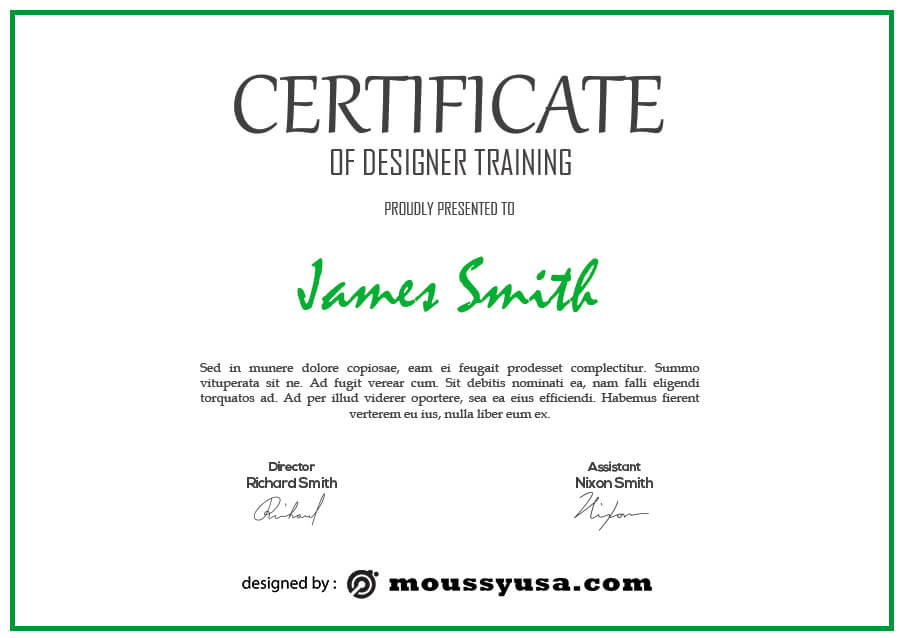 certificate design free download psd
