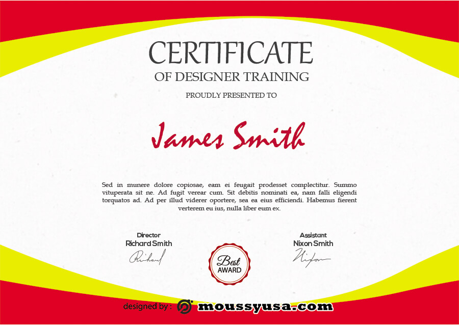 certificate design in photoshop free download