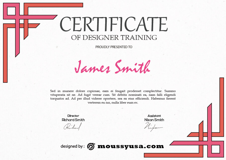 certificate design in photoshop