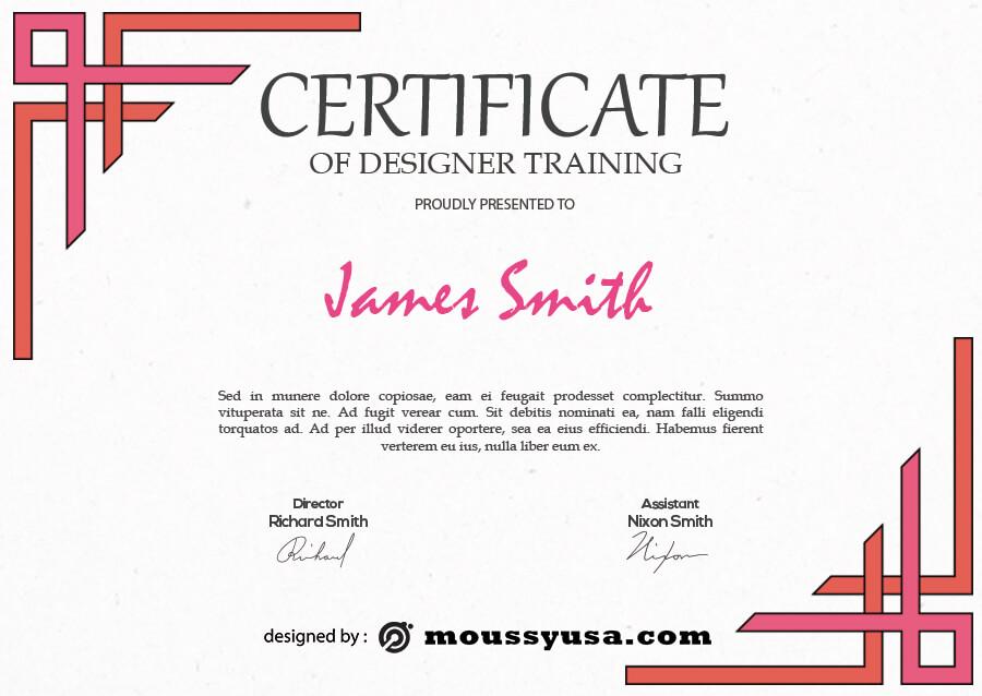 certificate design in photoshop