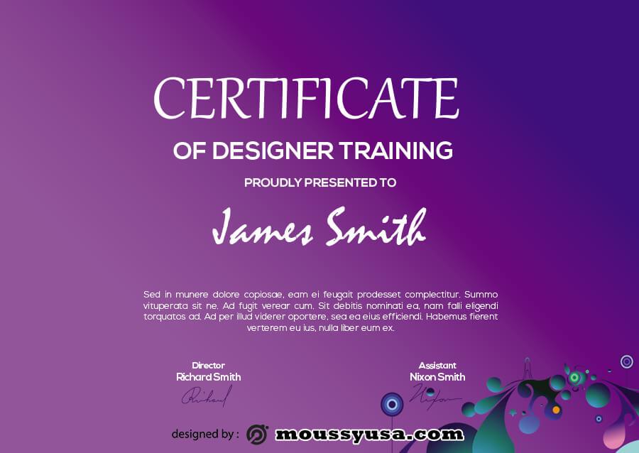 certificate design template free psd