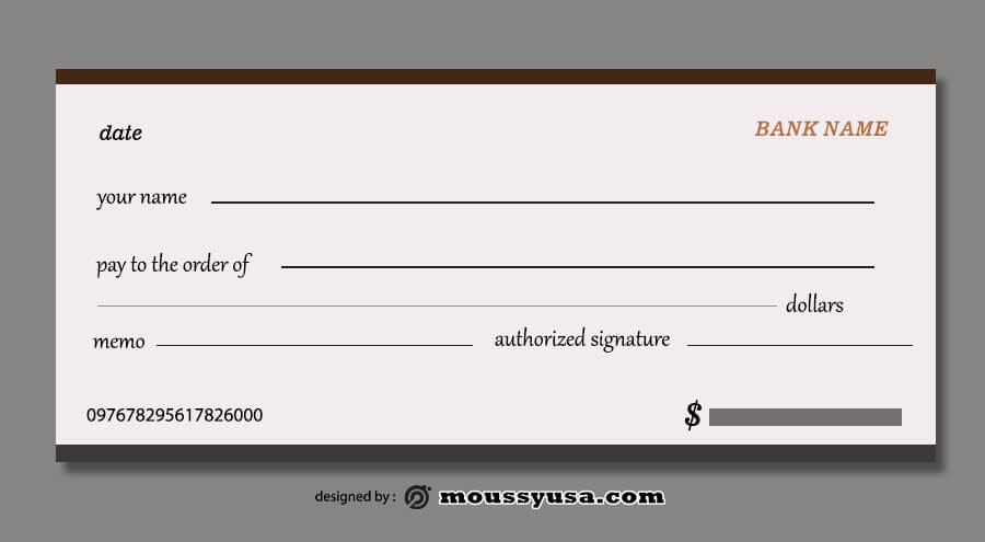 blank check template in photoshop