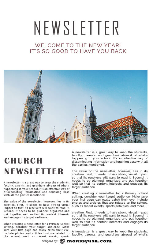 church newsletter free download psd