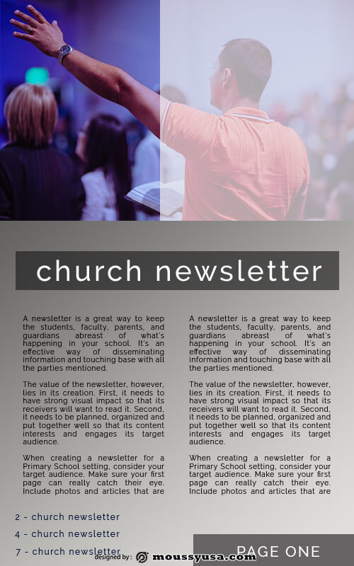 10+ Church Newsletter template free psd | Mous Syusa