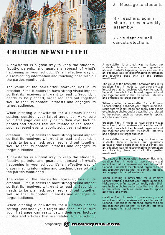 church newsletter in photoshop