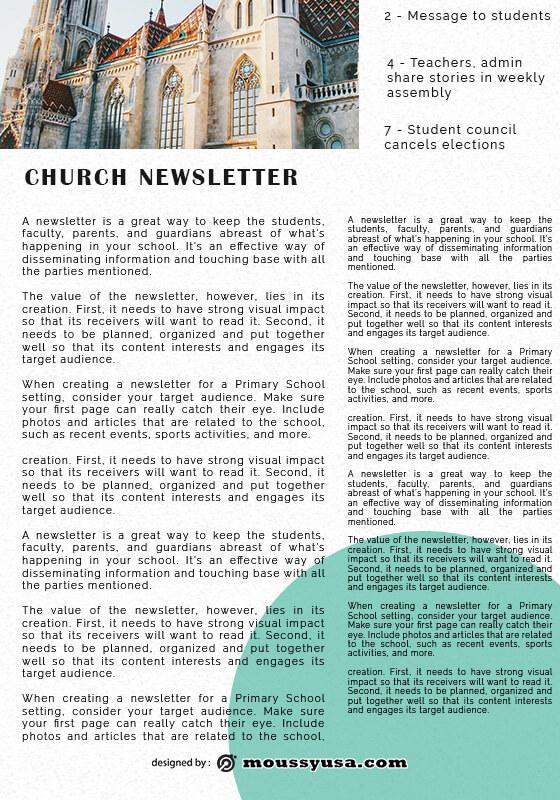 church newsletter in photoshop