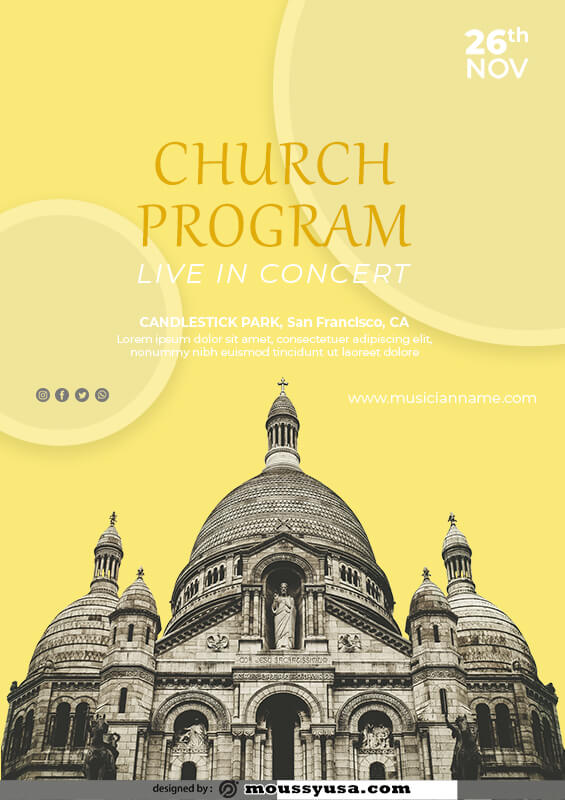 church program example psd design