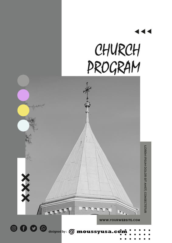church program free download psd