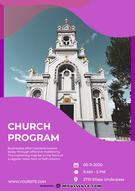 church program in photoshop