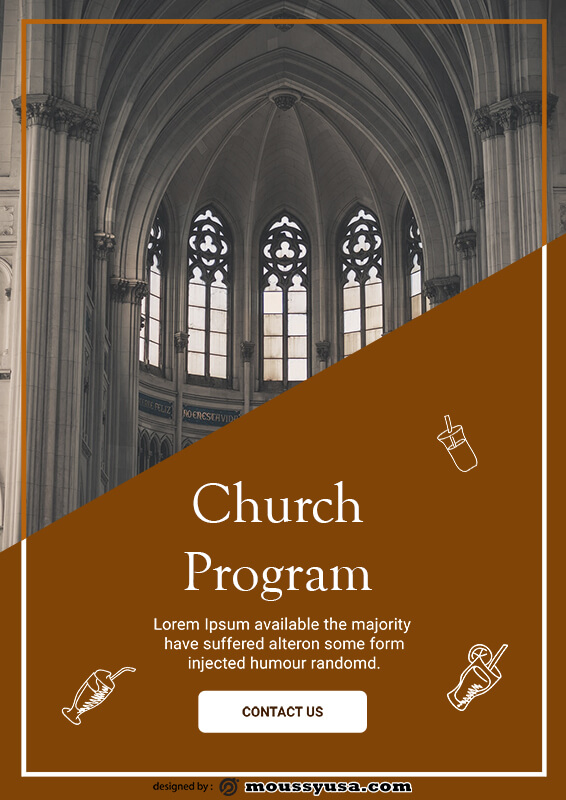church program in psd design