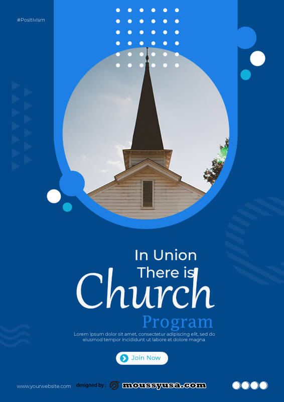 church program psd template free