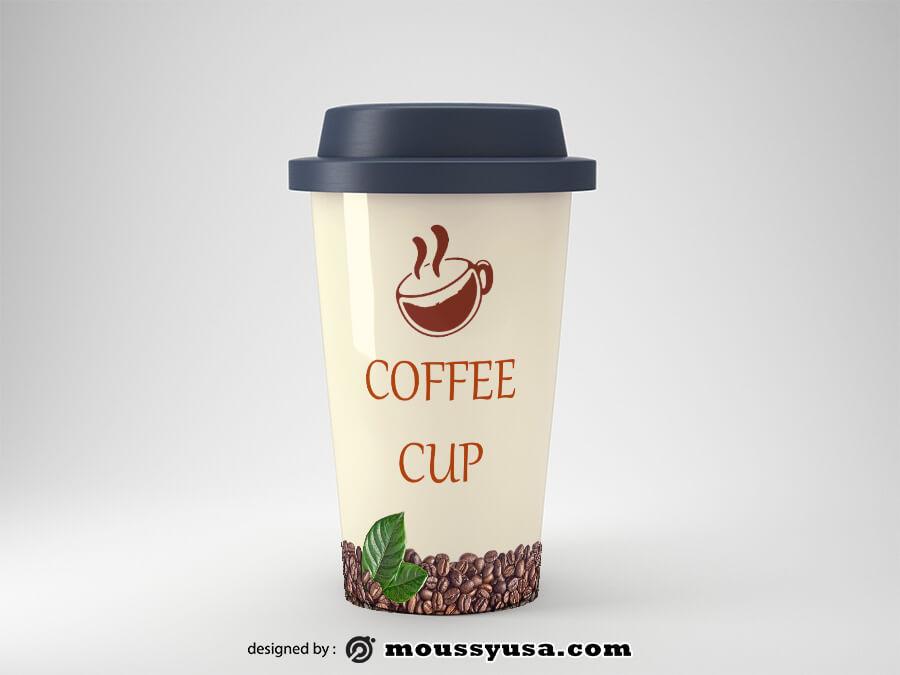 coffee mug customizable psd design template