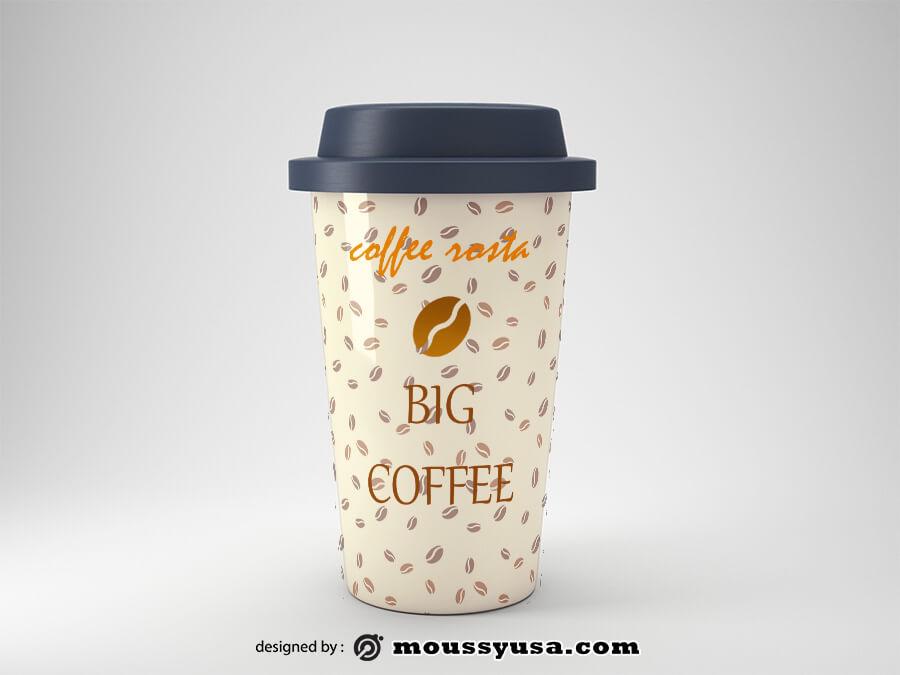 coffee mug example psd design