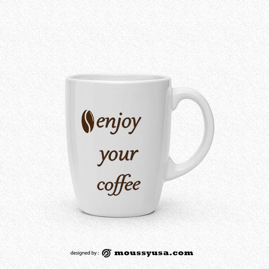 coffee mug free psd template