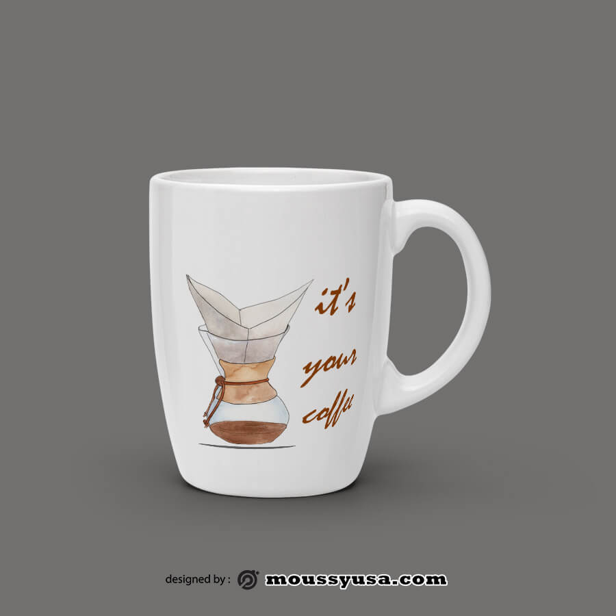 coffee mug in psd design