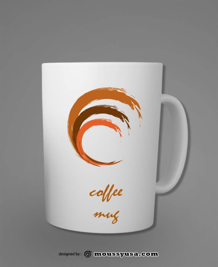 coffee mug psd template free