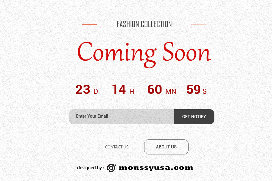 coming soon template example psd design