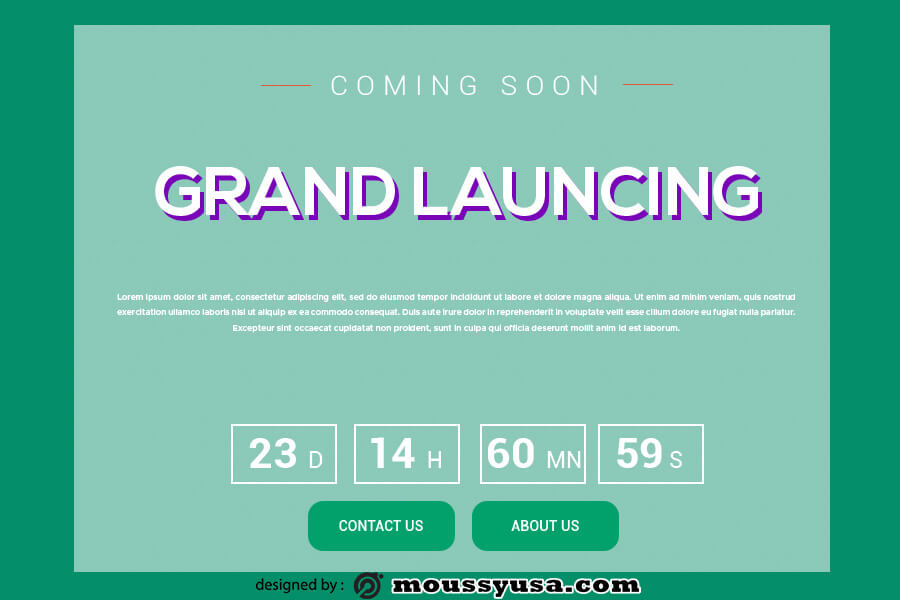 coming soon template in photoshop