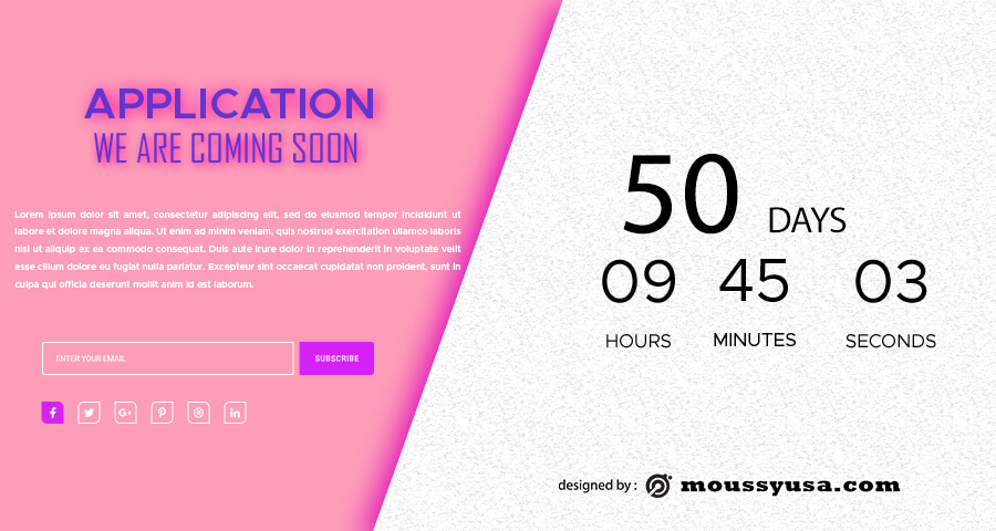 coming soon template in psd design