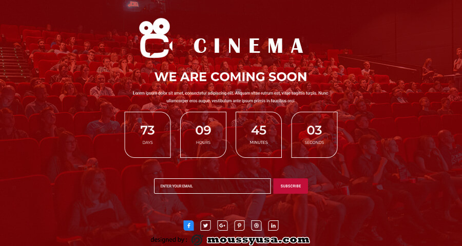 coming soon template psd template free