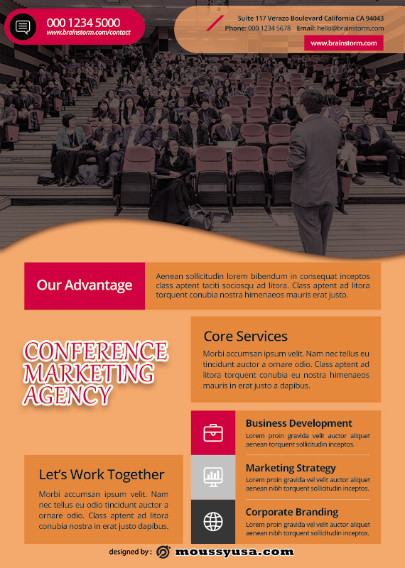 conference poster example psd design