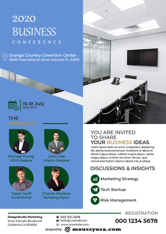 conference poster free download psd