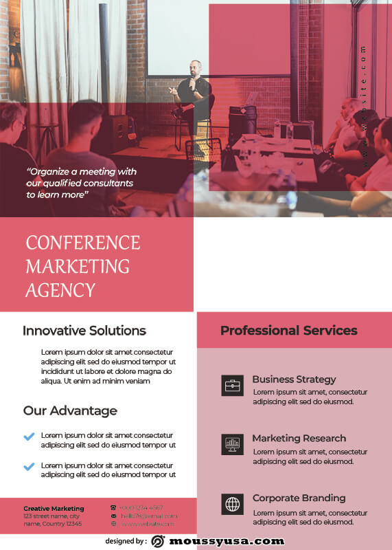 conference poster free psd template