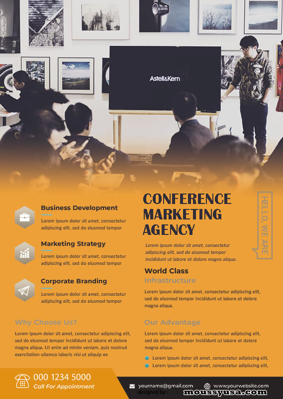 conference poster psd template free