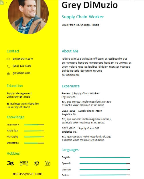 dance resume example word design