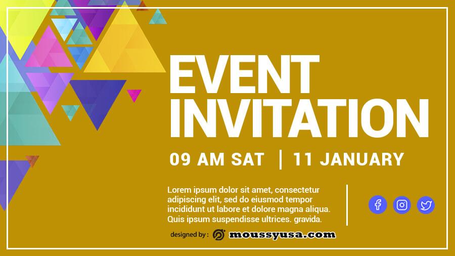 event invitation templates customizable psd design template