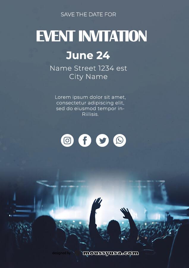 event invitation templates example psd design