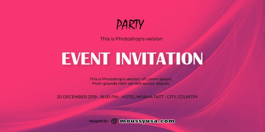 event invitation templates free psd template