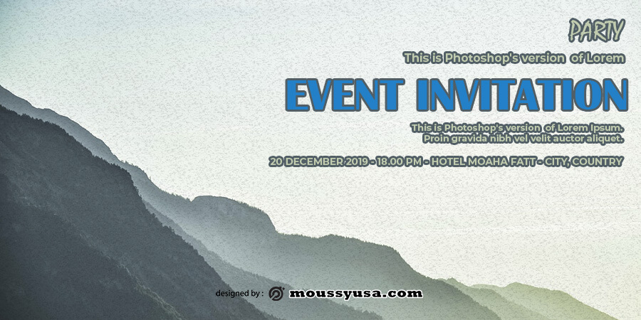 event invitation templates in photoshop free download