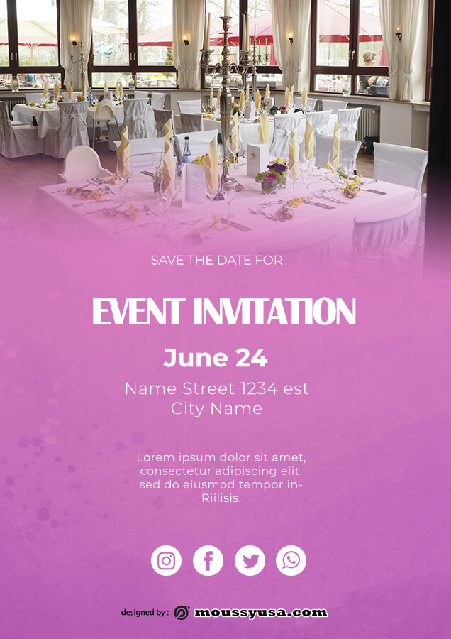event invitation templates template for photoshop