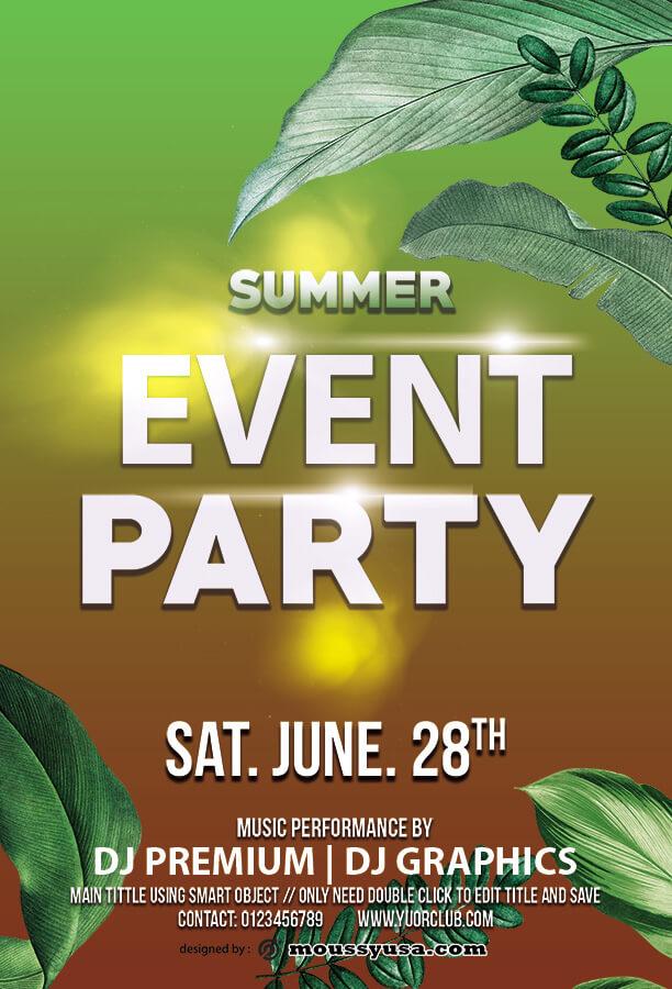 event invitation templates template free psd
