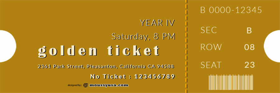 golden ticket templates customizable psd design template