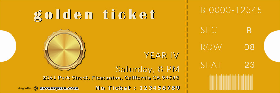 golden ticket templates in photoshop free download