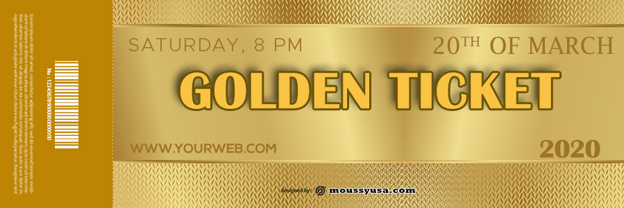 golden ticket templates template for photoshop