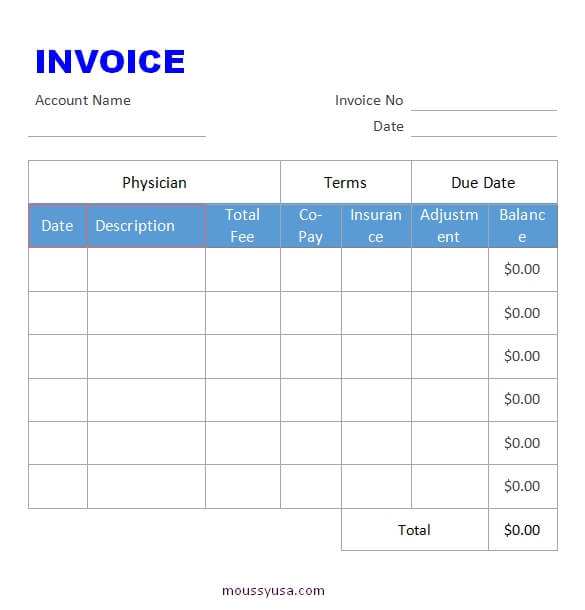 graphic design invoice template example word design